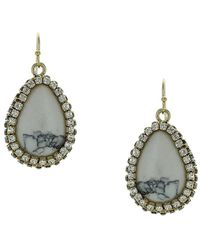 Sparkling Sage - Plated Resin Drop Earrings - Lyst