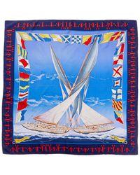 """Hermès - """"en Course,"""" By Yannick Manier Silk Scarf - Lyst"""
