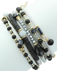 Sparkling Sage - Plated Crystal & Resin Magnetic Bracelet - Lyst
