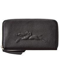 Longchamp - Le Foulonne Leather Zip Around Wallet - Lyst