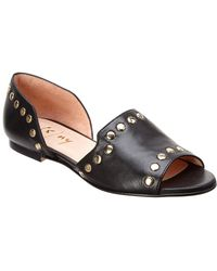 French Sole - Dickinson Leather Flat - Lyst