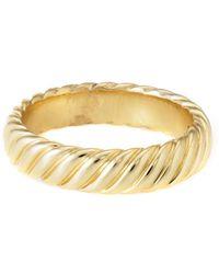 David Yurman - David Yurman Cable 18k Ring - Lyst