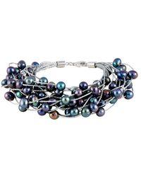 Splendid - Splendid Freshwater Pearls Rhodium Plated 6-7mm Freshwater Pearl Bracelet - Lyst