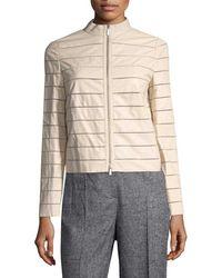 Lafayette 148 New York - Stephanie Stripe Jacket - Lyst