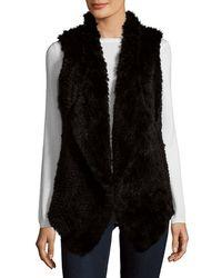 Saks Fifth Avenue - Asymmetrical Rabbit Fur Vest - Lyst