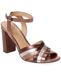 Pour La Victoire - Hadleynl Metallic Sandal - Lyst