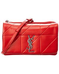 e0ffcd9088 Saint Laurent - Small Jamie Leather Wallet On A Chain - Lyst