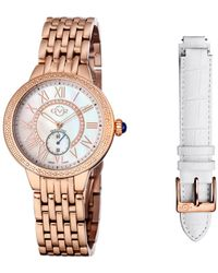 Gv2 - By Gevril Women's Diamond Astor Watch With Interchangeable Strap - Lyst