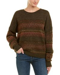 e08ec69670 Isabel Marant Charley Lace-up Wool Sweater in Gray - Lyst