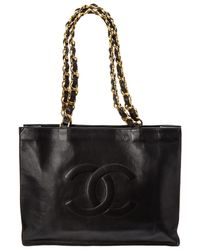 Lyst - Dior Black Cannage Quilted Lambskin Chain Tote Bag in Black 62553d52ce487