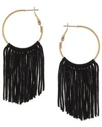 Sparkling Sage - 14k Plated Hoops - Lyst