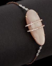 Meira T - 14k Rose Gold 10.68 Ct. Tw. Diamond, Rose Quartz & Mother-of-pearl Bracelet - Lyst