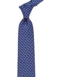 Ferragamo - Blue Bird On A Giraffe Silk Tie - Lyst
