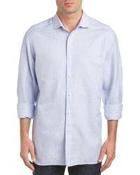 Ermenegildo Zegna - Linen-blend Sport Shirt - Lyst