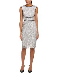 Tahari - Tahari Asl Sheath Dress - Lyst