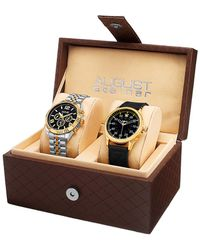 August Steiner - 2pc Watch Gift Set - Lyst