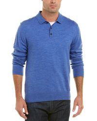 Qi - Merino Wool Polo Sweater - Lyst