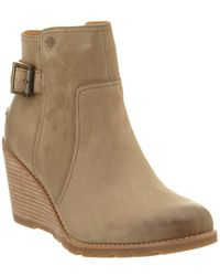 Sperry Top-Sider - Women's Gold Cup Liberty Leather Wedge Ankle Boot - Lyst