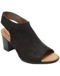 Rockport - Hattie Leather Heeled Sandal - Lyst