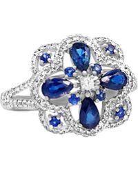 Diana M. Jewels - . Fine Jewelry 14k 1.66 Ct. Tw. Diamond & Blue Sapphire Ring - Lyst