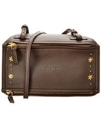 eeb0468663e8 Givenchy Pandora Box Mini Leather Chain Crossbody Bag in Pink - Lyst