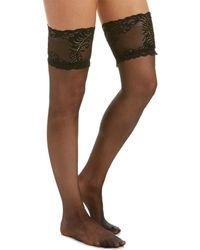 Natori - Silky Sheer Lace Top Thigh High - Lyst