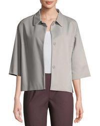 Piazza Sempione - Collared Cotton-blend Jacket - Lyst