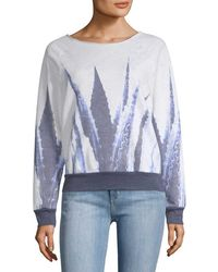 Sol Angeles - Blue Agave Print Sweatshirt - Lyst