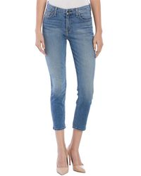 Jen7 - Laguna Cliff Blue Cropped Skinny Leg - Lyst