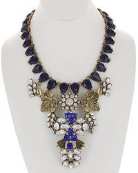 Sparkling Sage - 14k Plated Resin Necklace - Lyst