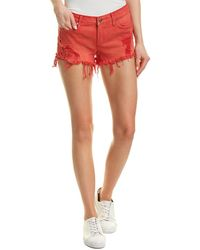 Hudson Jeans - Kenzie Cut Off Jean Shorts In Red Alert (red Alert) Shorts - Lyst