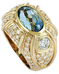 Heritage - 18k 5.89 Ct. Tw. Diamond & Aquamarine Ring - Lyst