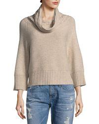 RAFFI - Cashmere Horizontal Cableknit Cashmere Sweater - Lyst