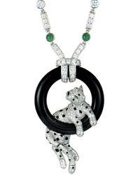 Cartier - Cartier 18k & Platinum 11.69 Ct. Tw. Diamond & Gemstone Necklace - Lyst