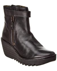 Fly London - Yava Leather Bootie - Lyst