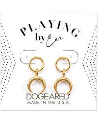 Dogeared - Playing By Ear 14k Over Silver Earrings - Lyst