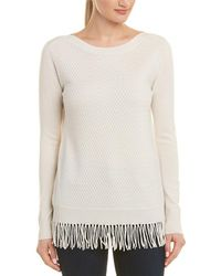 In Cashmere - Fringe Cashmere Top - Lyst