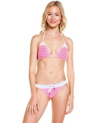 Sperry Top-Sider - Top-sider Electric Pink Stripe Hipster Bottom - Lyst