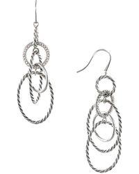 David Yurman - David Yurman Mobile Silver 0.48 Ct. Tw. Diamond Drop Earrings - Lyst