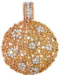 Roberto Coin - 18k Two-tone 0.42 Ct. Tw. Diamond Pendant - Lyst