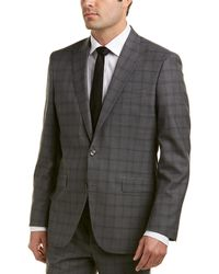 Kenneth Cole - New York Wool Suit With Flat Front Pant - Lyst