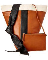 Céline - Band Twisted Cabas Leather Shoulder Bag - Lyst d2dd9a12f8739