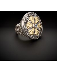 Konstantino - Color Classics 18k & Silver 0.10 Ct. Tw. Blue Topaz Ring - Lyst