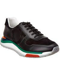 18ce6492865 Men s Brooklyn Sneakers W  Rainbow Sole.  695. Bergdorf Goodman · Ferragamo  - Rainbow Suede Sneaker - Lyst