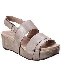44f8cf72fd7 Castaner Bisba Metallic Leather Wedge Sandals in Metallic - Lyst