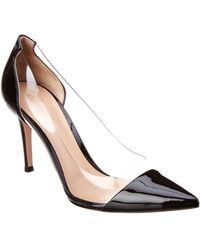 068c6f8c30 Gianvito Rossi - Plexi 85 Patent Leather Court Shoes - Lyst