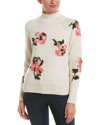 Rebecca Taylor - Turtleneck Wool-blend Sweater - Lyst
