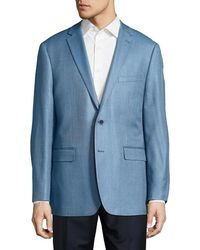 Vince Camuto - Classic Fit Hopsack Silk-blend Sportcoat - Lyst