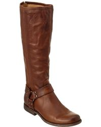 Frye - Women's Phillip Harness Tall Ext Calf Leather Boot - Lyst