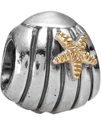 PANDORA - 14k & Silver Sea Shell With Starfish Charm - Lyst